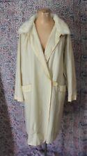 Antique 1920s White Wool Fur Coat Robe As Found