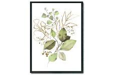 Greenery wall print, greenery wall art, botanical wall art, home decor