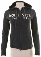 HOLLISTER Womens Hoodie Sweater Size 14 Medium Navy Blue Cotton  CK14