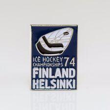 World Championship 1974 Finland pin, badge, lapel, hockey