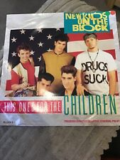 "New Kids on the Block - This one's for the children    Used 7""single record"