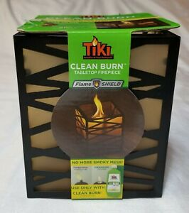Tiki Clean Burn Tabletop Firepiece Abstract Lantern