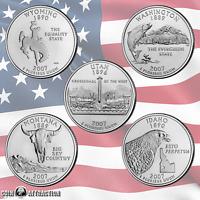 2007 P & D State Quarter Set From Mint Rolls 10 Quarter Set Uncirculated