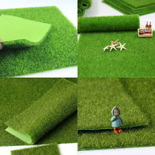 1X Garden Ornament Fairy Dollhouse DIY Decor Faux Lawn Artificial Grass 15*15cm
