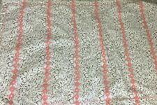 Ralph Lauren King Pillow Sham Black Label White Coral Floral Geometric