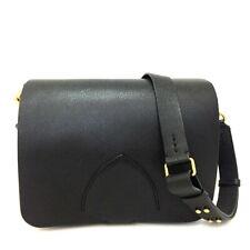 100% Authentic Burberry Black Leather Shoulder Bag /3949