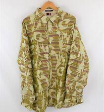 COOGI 100% Silk Long Sleeve Button Front Size 4XL Dress shirt