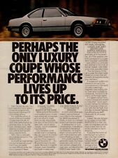 1981 BMW 633CSi Luxury Sports Coupe Car Vintage Color Photo Print Ad