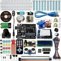 Electronic Project Starter Kit Beginners UNO R3 Board DIY Arduino LCD 1602 Servo