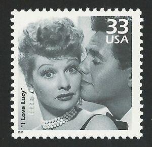 I Love Lucy Lucille Ball Desi Arnaz Ricky Ricardo 70th Anniversary TV Stamp MINT