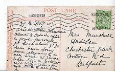 Genealogy Postcard - Family History - Marshall - Chichester Park - Belfast U3278