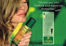 PUBLICITE ADVERTISING 114  1992  RENE FURTERER   CURABICA ( 2p) shampoing