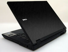 BLACK BRUSHED TEXTURED Vinyl Lid Skin Cover fits Dell Latitude E5500 Laptop