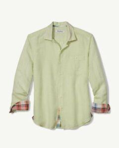 NWT Tommy Bahama Beach breaker sand mint Linen long sleeve shirt mens Size XL