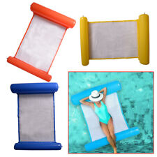 Inflatable Swimming Bed Floating Mattress Lounge Pool Chair Hammock Water Relax
