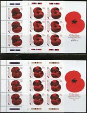 GIBRALTAR SCOTT #1257/64 ROYAL BRITISH LEGION SHEETLETS    MINT  NEVER HINGED