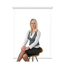 "Retractable Photo Backdrop White Casing, 36"" x 48"" - White for ID Badge Card"