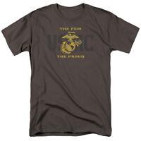United State Marine Corps USMC SPLIT TAG Few Proud Gray Adult T-Shirt All Sizes