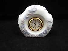 Lladro Clock with Lavender Flowers