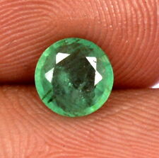 Certified Natural Emerald Round Cut 6.50 mm 0.77 Cts Untreated Loose Gemstone