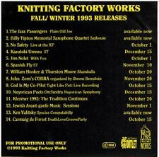 Various / Knitting Factory - fall/ winter 1993 releases (Jazz Passengers, etc.