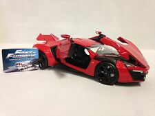 """Fast and Furious 7 LYKAN HYPERSPORT, 8.25"""" Diecast 1:24 Car By Jada Toys, Red"""