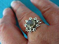 925 Sterling Silver Ring With Labradorite UK Q 1/2 US 8.25 (rg2756)