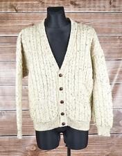 Castle Fionn Ireland Men Wool Cardigan Sweater Size L, Genuine