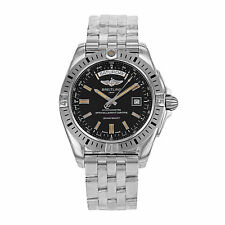 Breitling Stainless Steel Band Adult Round Wristwatches