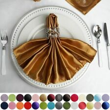 """5 pcs 20"""" Satin Napkins Wedding Party Baby Shower Table Top Supply Wholesale"""