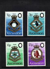 ASCENSION - 1972 - COATS OF ARMS - ROYAL NAVY SHIPS - CRESTS - MINT - MNH SET!