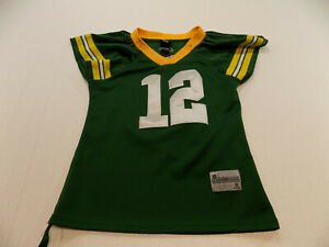 "NFL REEBOK ""TEAM APPAREL""  Rodgers ""BLING JERSEY "" Green Bay Packers SIZE SMALL"