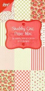 Joy Crafts - Paper Bloc 15cm x 30cm - Shabby Chic 6011/0303 - 24 Sheets