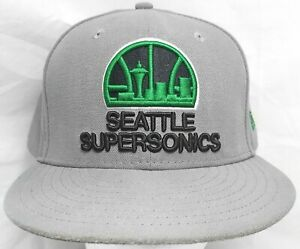 Seattle Supersonics NBA New Era 59fifty 7&5/8 fitted cap/hat
