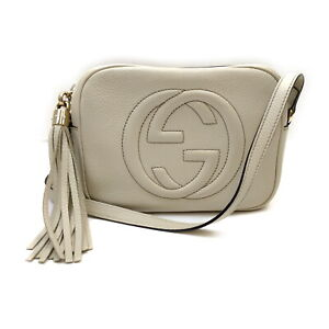 Gucci Shoulder Bag  Whites Leather 1520221