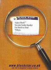 Black Star Video Hunt 1999 Magazine Advert #7123