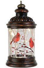 "Lighted Cardinals Lantern 8"" Raz Imports #3824712"