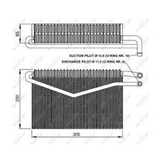 NRF Verdampfer Klimaanlage Klima 36152