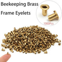 1000pcs Beekeeping Brass Frame Eyelets Set for Beekeeper Bee Equipment Craft Kit