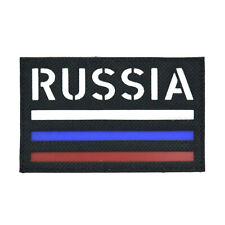 """Call Sign Patch """"RUSSIA"""" Field Tactical Patch Army Morale Black"""