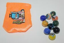 Digimon Marbles & Carry Pouch Marvel 2001 Hongo Toe!