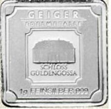 Lingot Argent 999/1000 GEIGER 1 gramme