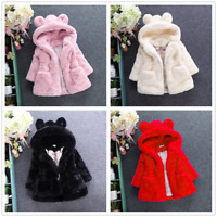 Baby Kids Girls Outerwear Winter Warm Thick Jacket Tops Coat Snowsuit Toddler