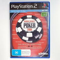 World Series Of Poker 2008 - Sony Playstation 2 PS2 - Free Postage + Manual