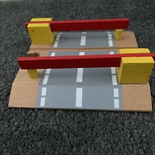 Wooden Railway Accessories Railroad Crossing Bridge Train Slot Track