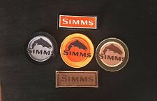 5 Simms fly fishing rod reel embroidered emblem patch