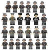 25pcs WW II German Soldiers + Officers Mini Figures Military Set Compatible L