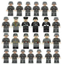 25pcs WW II German Soldiers + Officers Mini Figures Military Set Fit Lego