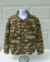Ecko Mens Jacket Lightweight Camo Army Green Sz Large
