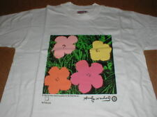 vtg Andy Warhol girl boy childs S 6-8 Flower Print original 1996 t-shirt New Nos
